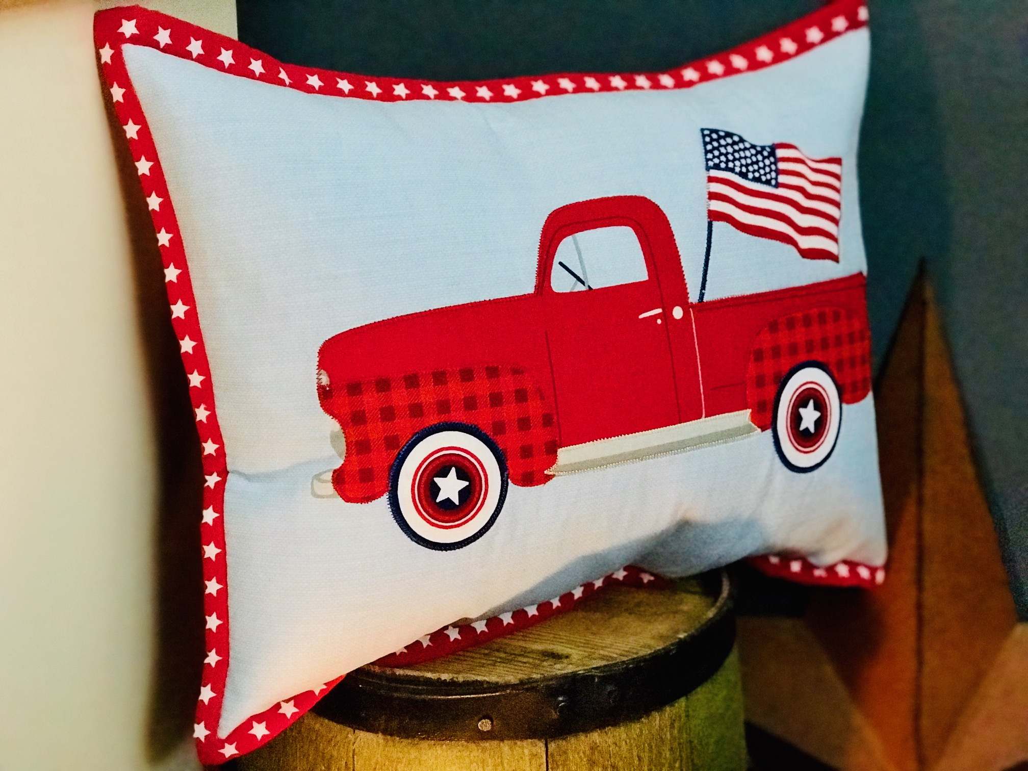 Patriotic Flag DIY Placemat Pillow JULY Craft