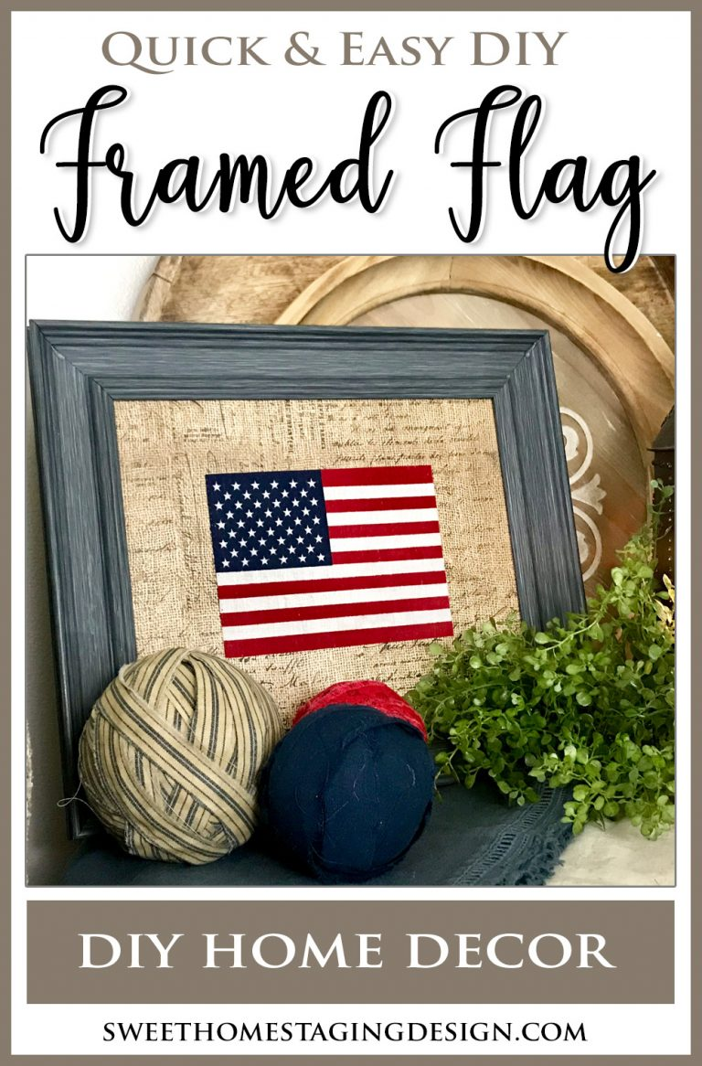 Framed Flag Patriotic Home Decor July 4th USA