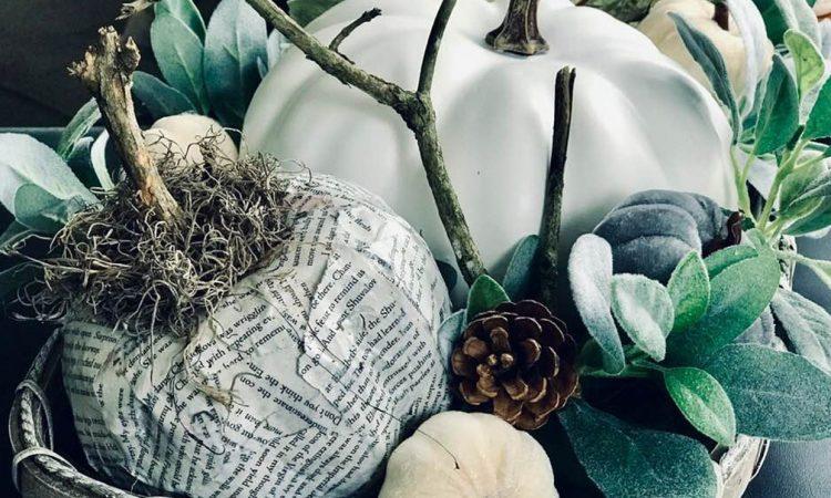 Dollar Tree Foam pumpkin makeover fall diy craft home decor