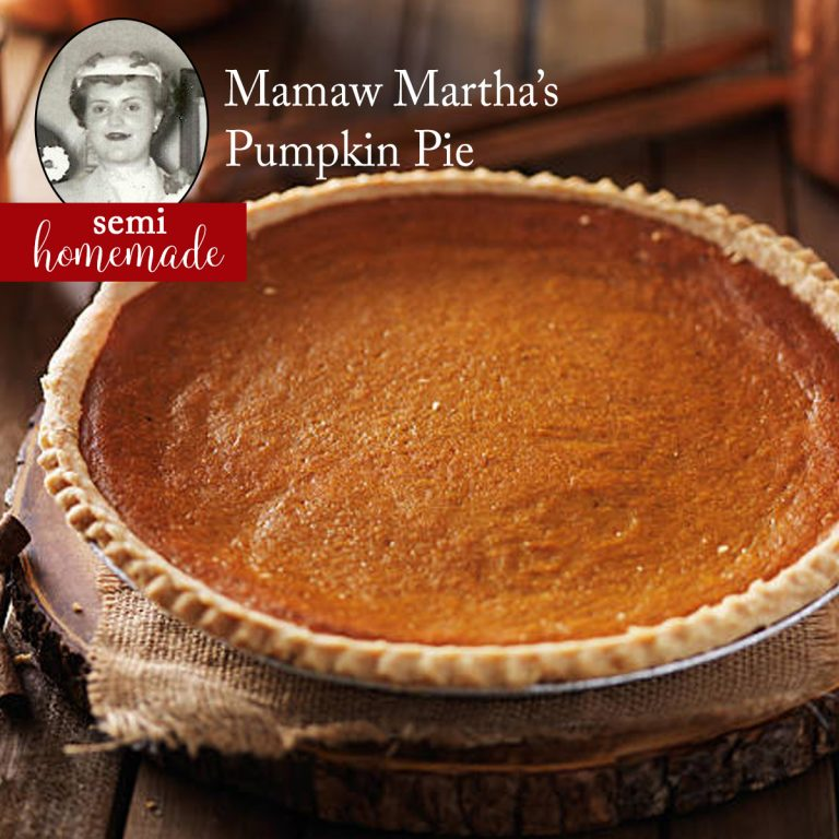 Thanksgiving Pumpkin Pie Recipe Homemade Semi Christmas Dessert Mamaw Martha traditional family favorite