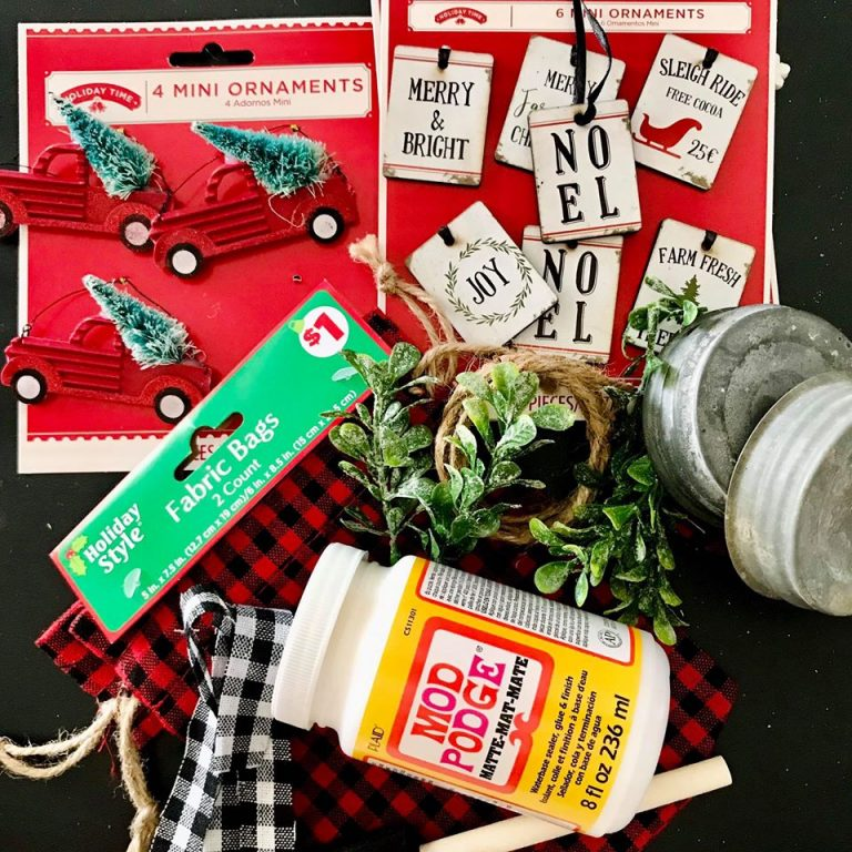 Jar Lid DIY vintage Christmas ornament