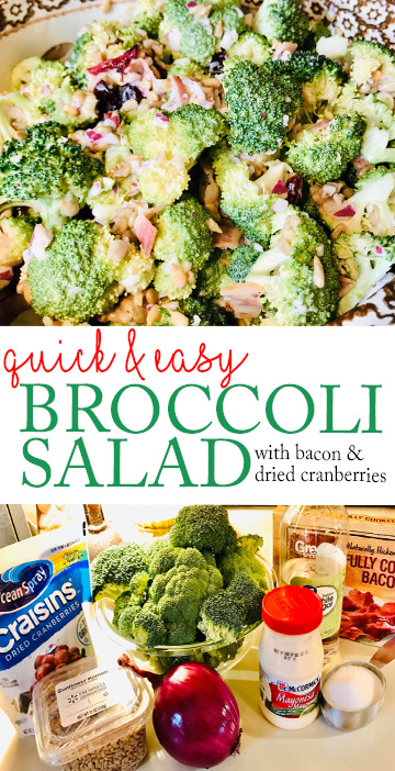 Broccoli Salad Recipe Piggly Wiggly Potluck Dish Summer Salad Quick & Easy