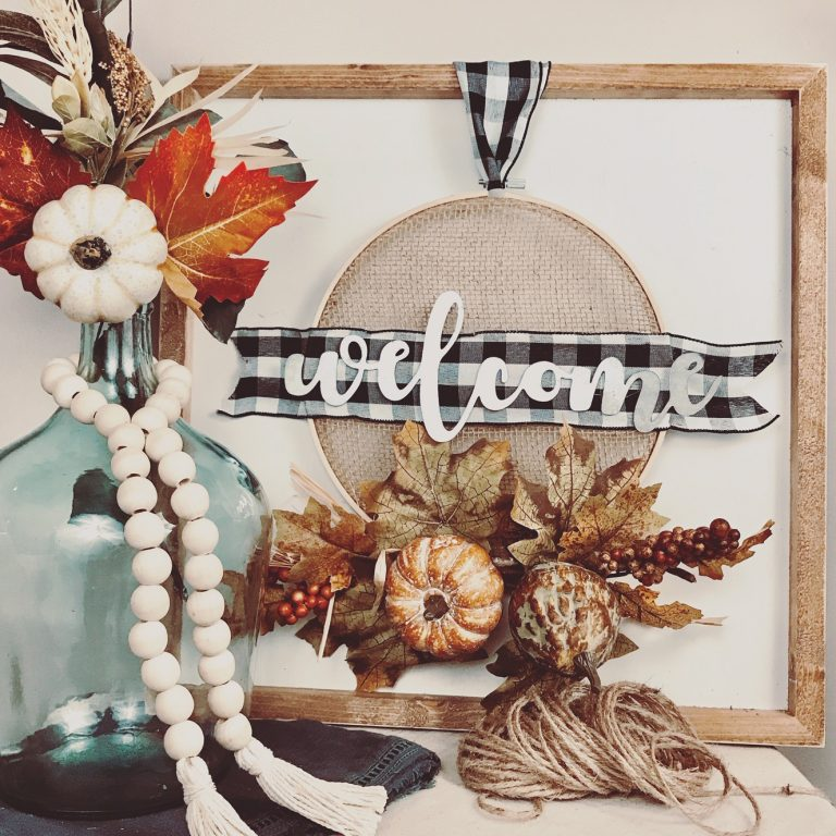 fall diy embroidery hoop wreath farmhouse country craft