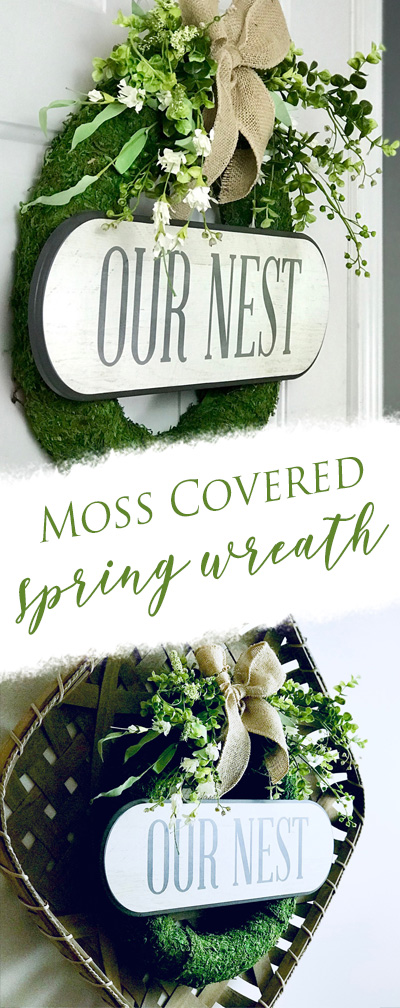moss wreath diy spring easter wreath