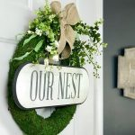 spring Pool Noodle moss wreath Summer Door Hanger