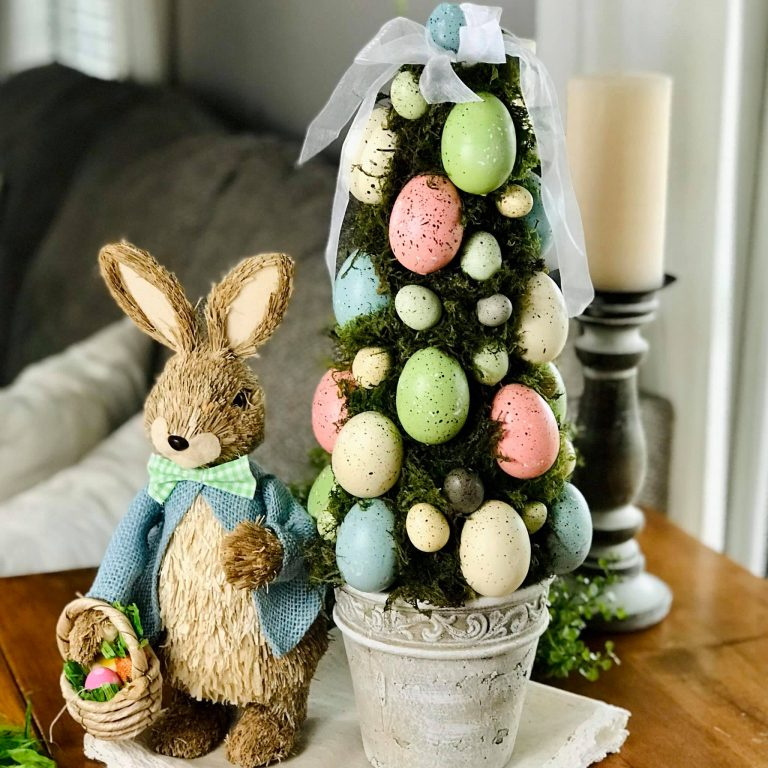 Easter Egg Moss Topiary Tree