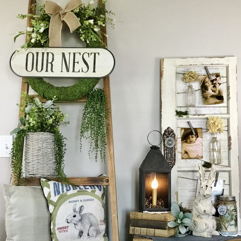 Spring Blanket Ladder decor Farmhouse decorating ideas inspo countryliving southern living country farm