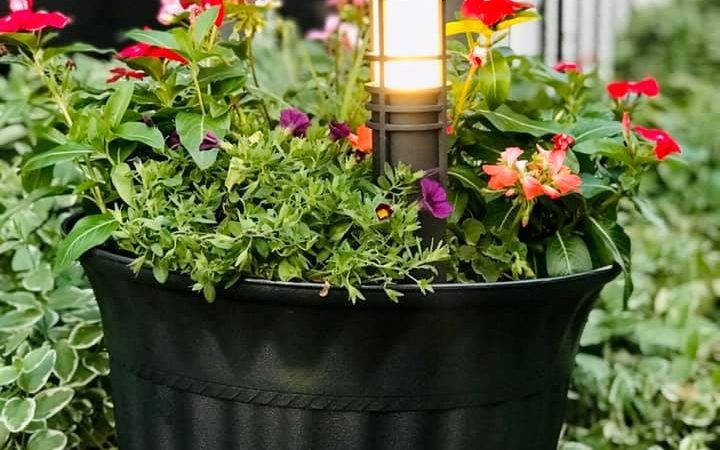 DIY Spray Paint Flower Pot Makeover Painted Outdoor Gardening