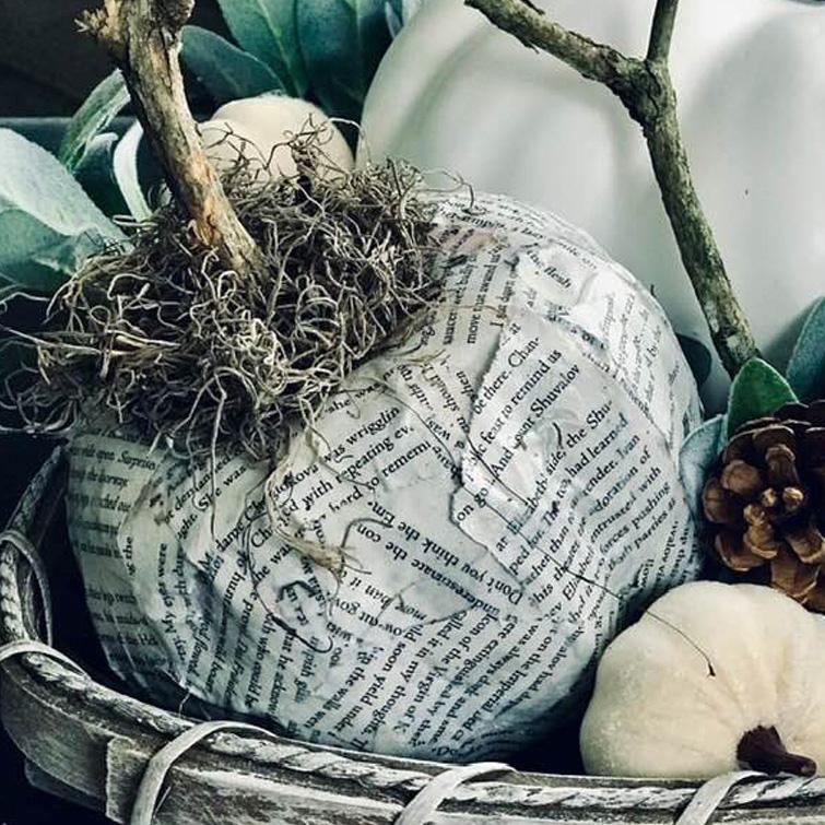 Dollar Tree Foam Pumpkin Makeover DIY Fall Craft -8