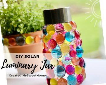 Upcycled Glass Jar - DIY Solar Lamp Light outdoor