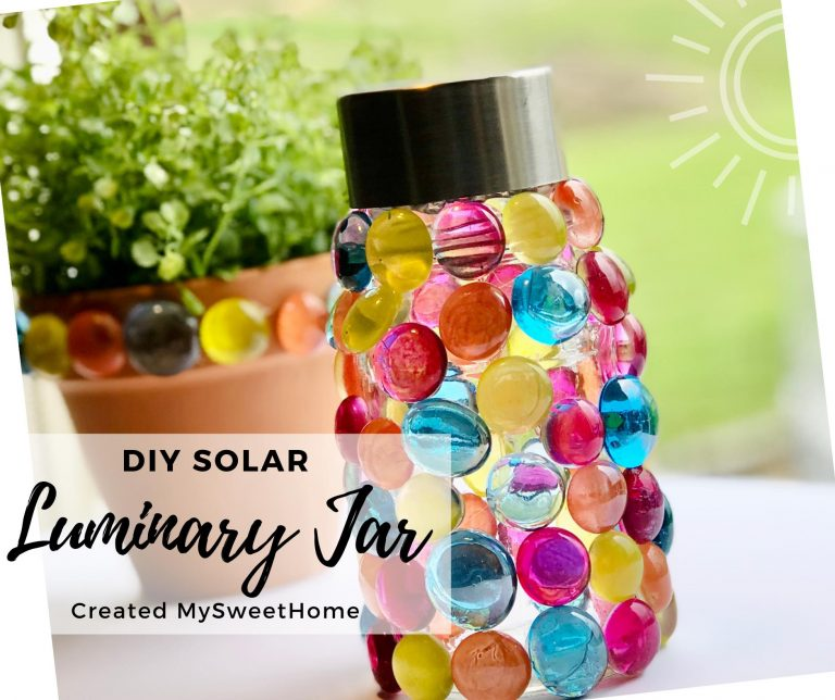 Upcycled Glass Jar - DIY Solar Lamp Light outdoor