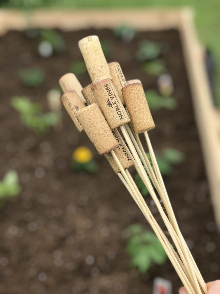 Easy Wine Cork DIY Garden Markers