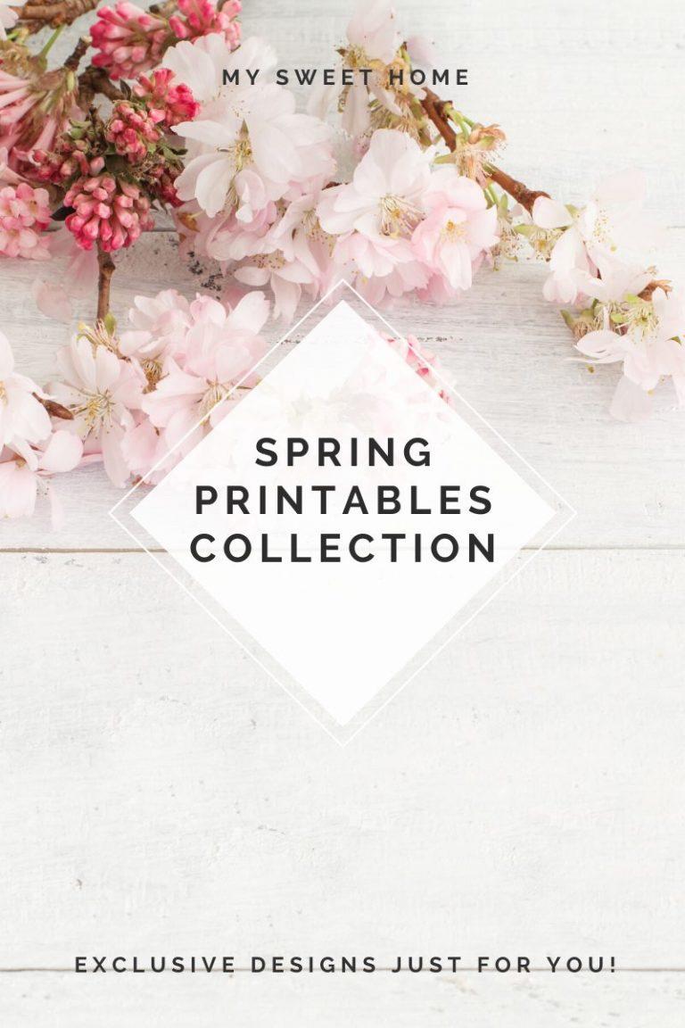 Free printables spring printable sign poster print