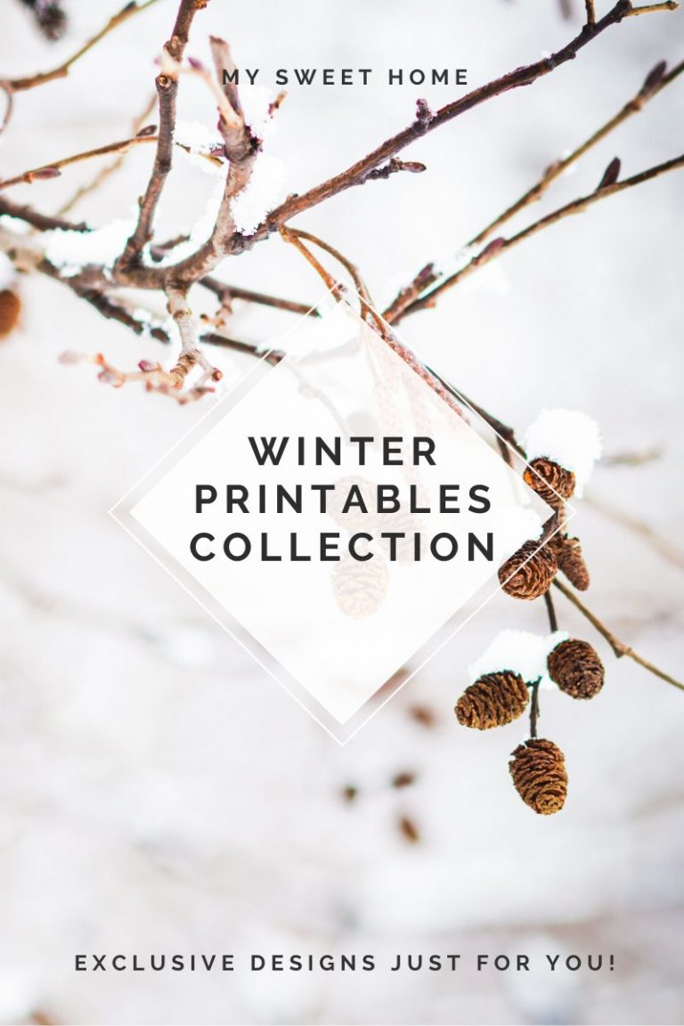 Free printables winter printable sign poster print