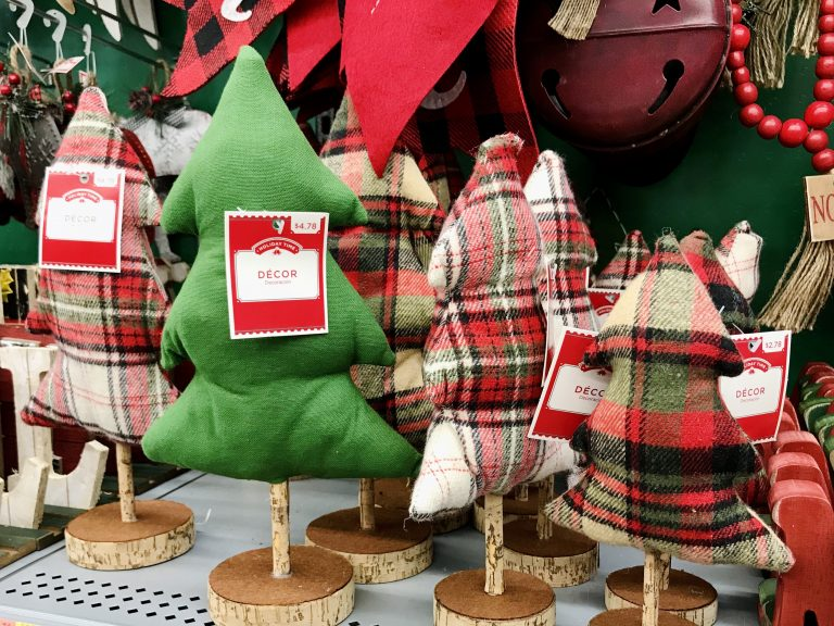 Fabric Christmas Trees Holiday Decor Walmart plaid