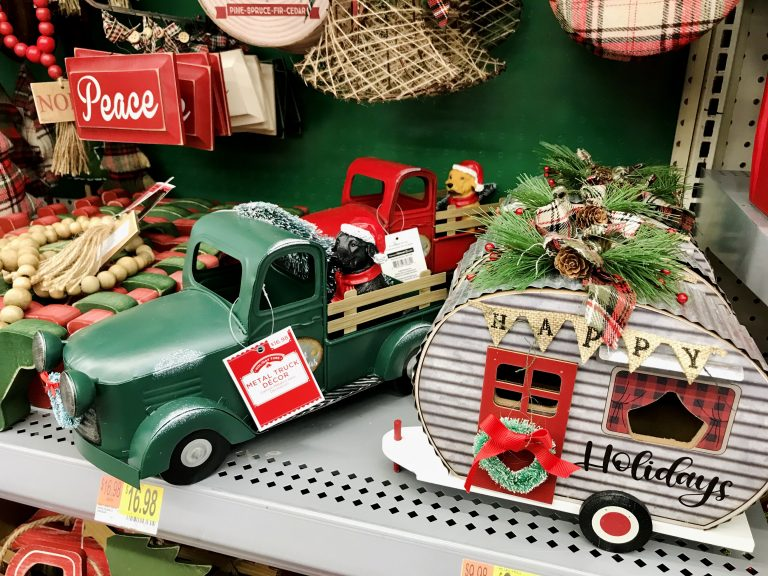 Christmas Tree Trucks Walmart Holiday Decor