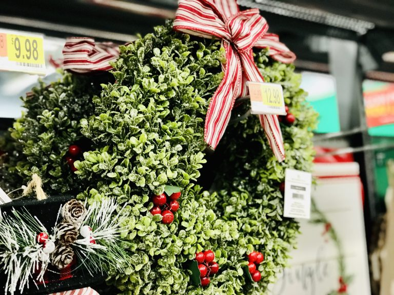 Christmas Greenery Wreath Holiday Home Decor Walmart