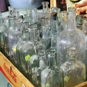 Vintage glass bottles antiques home decor repurpose