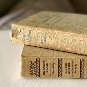 vintage books home decor