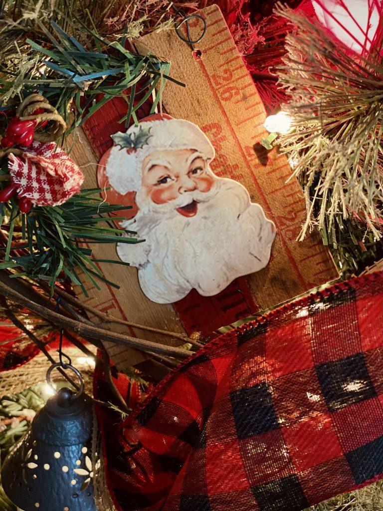 DIY Vintage Yardstick Christmas Ornament