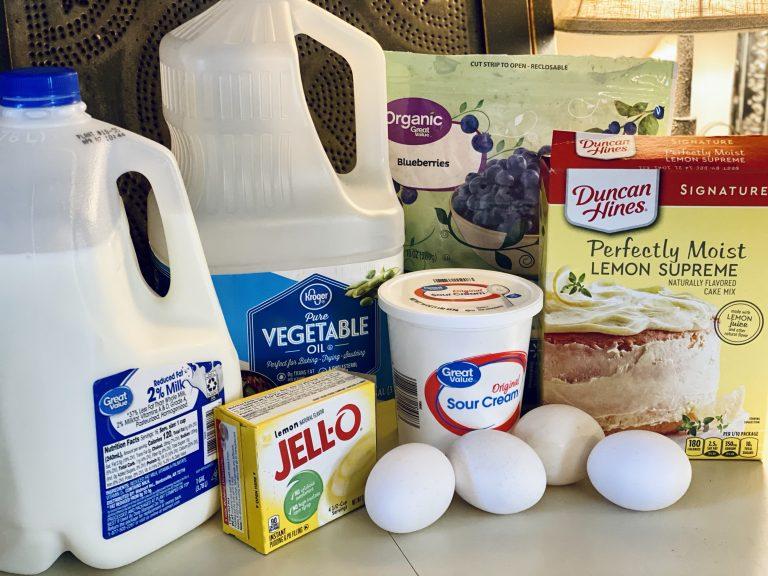 Lemon Blueberry Cake Recipe Ingredients